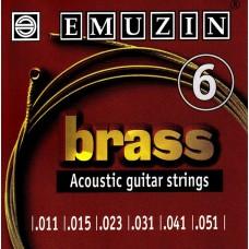 Струны для акустической гитары BRASS 11-51 EMUZIN 6А105, EMUZIN, 6А105