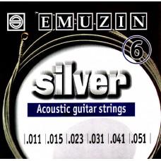 """Струны для акустической гитары """"SILVER"""" 11-51 EMUZIN 6А205, EMUZIN, 6А205"""
