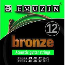 Струны для двенадцатиструнной акустической гитары BRONZE EMUZIN 12А183