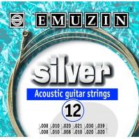 Струны для двенадцатиструнной акустической гитары SILVER EMUZIN 12А231