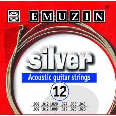 Струны для двенадцатиструнной акустической гитары SILVER EMUZIN 12А232