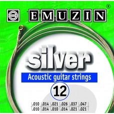 Струны для двенадцатиструнной акустической гитары SILVER EMUZIN 12А233