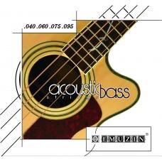 Струны для 4-струнной акустической бас-гитары EMUZIN 4АВ40-95