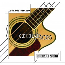 Струны для акустической 4-струнной бас-гитары EMUZIN 4АВ45-100