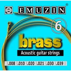 Струны для акустической гитары BRASS 08-39 EMUZIN 6А101, EMUZIN, 6А101