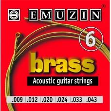 Струны для акустической гитары BRASS 09-43 EMUZIN 6А102, EMUZIN, 6А102