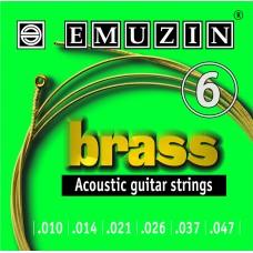Струны для акустической гитары BRASS 10-47 EMUZIN 6А103, EMUZIN, 6А103