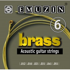 Струны для акустической гитары BRASS 12-51 EMUZIN 6А104, EMUZIN, 6А104