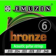 """Струны для акустической гитары """"BRONZE"""" 10-48 EMUZIN 6А153, EMUZIN, 6А153"""