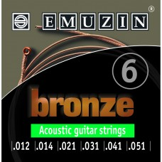 """Струны для акустической гитары """"BRONZE"""" 12-51 EMUZIN 6А154"""