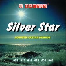 """Струны для акустической гитары """"SILVER STAR"""" 09-42 EMUZIN 6СС-02, EMUZIN, 6СС-02"""