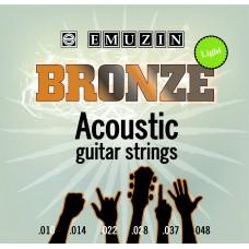 """Струны для акустической гитары """"BRONZE"""" EMUZIN 6PB 10-48, EMUZIN, 6PB 10-48"""