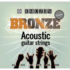 """Струны для акустической гитары """"BRONZE"""" EMUZIN 6PB 11-49, EMUZIN, 6PB 11-49"""