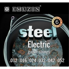 """Струны для электрогитары """"STEEL ELECTRIC"""" EMUZIN 6S12-52"""