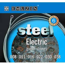 """Струны для электрогитары """"STEEL ELECTRIC"""" EMUZIN 6S8-38"""