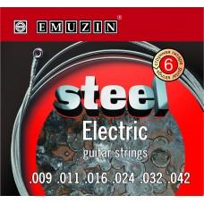 """Струны для электрогитары """"STEEL ELECTRIC"""" EMUZIN 6S9-42"""