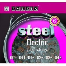 """Струны для электрогитары """"STEEL ELECTRIC"""" EMUZIN 6S9-46"""