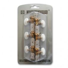 Механизм колковый для акустической гитары EMUZIN 6МК-10(80)
