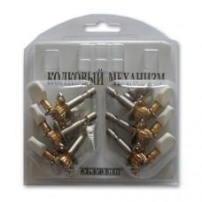 Механизм колковый для акустической гитары EMUZIN МКЛП-10(3+3)